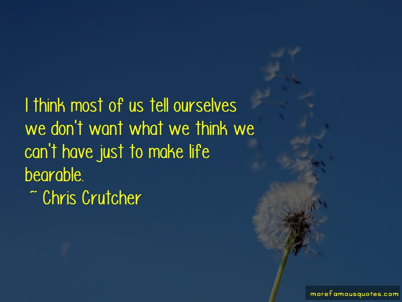 Chris Crutcher Quotes