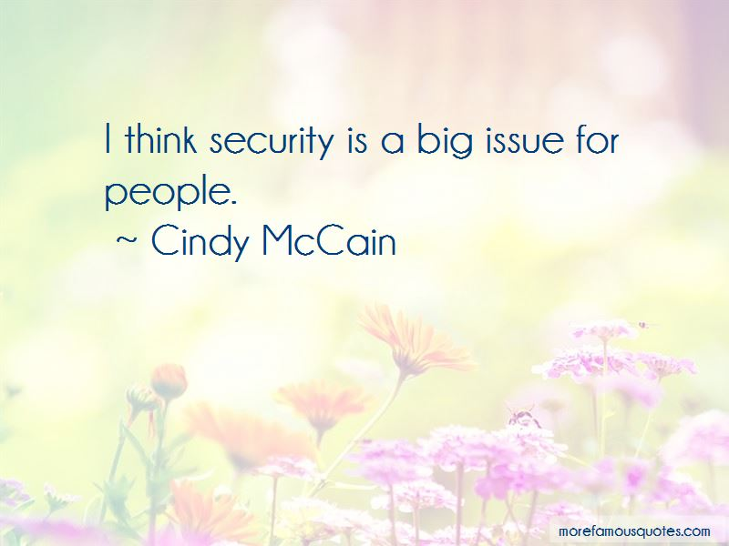 Cindy McCain Quotes