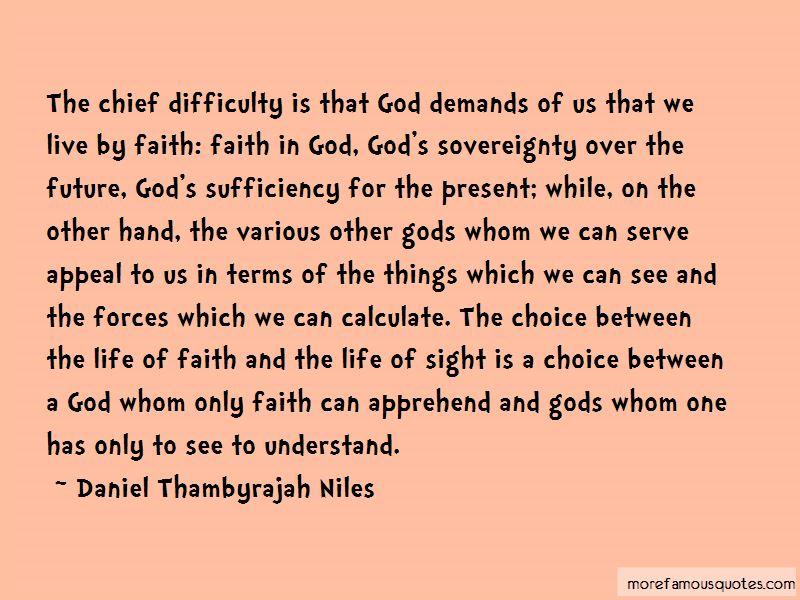 Daniel Thambyrajah Niles Quotes