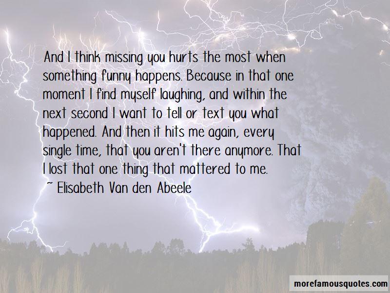 Elisabeth Van Den Abeele Quotes