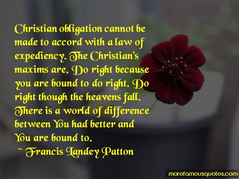 Francis Landey Patton Quotes
