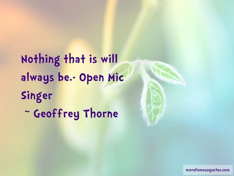 Geoffrey Thorne Quotes