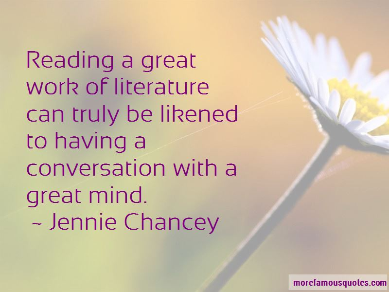 Jennie Chancey Quotes
