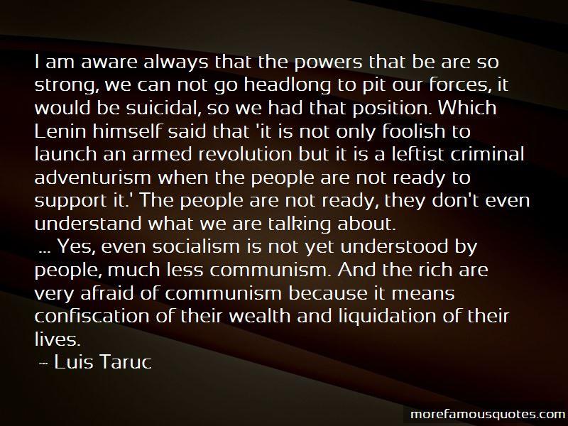 Luis Taruc Quotes