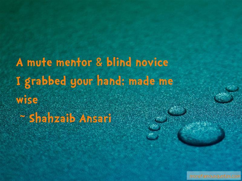 Shahzaib Ansari Quotes