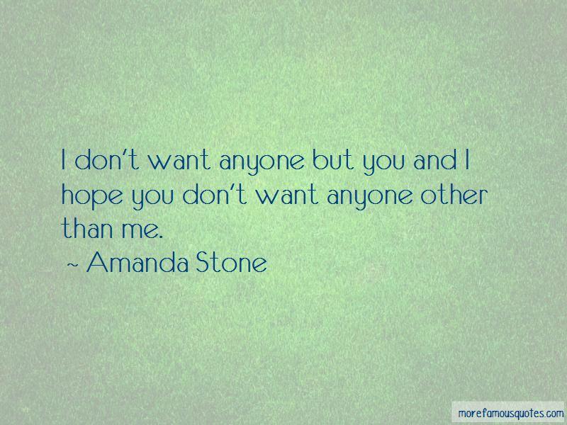 Amanda Stone Quotes
