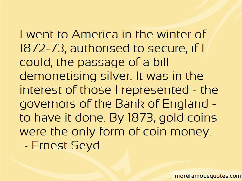 Ernest Seyd Quotes