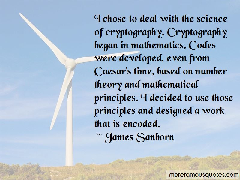 James Sanborn Quotes