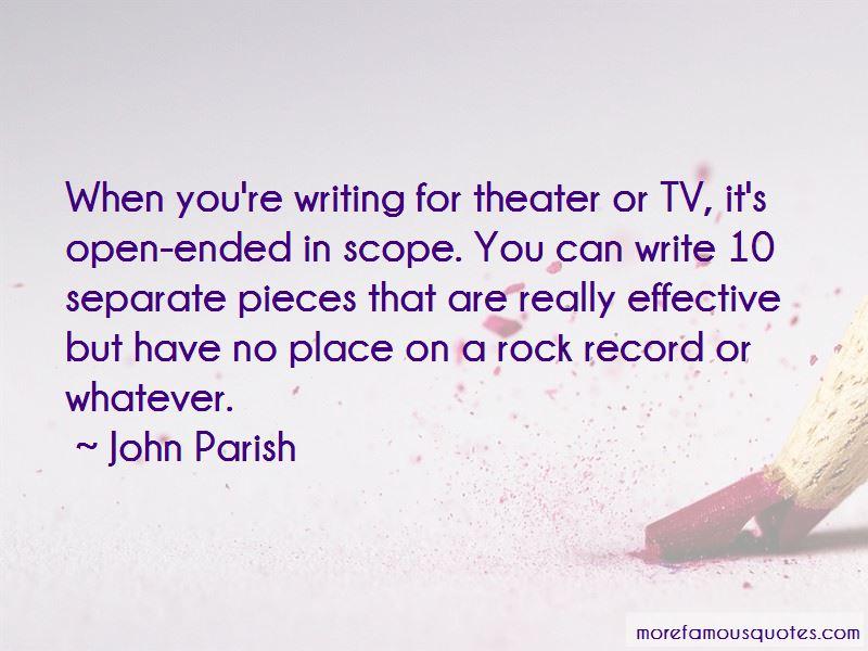 John Parish Quotes