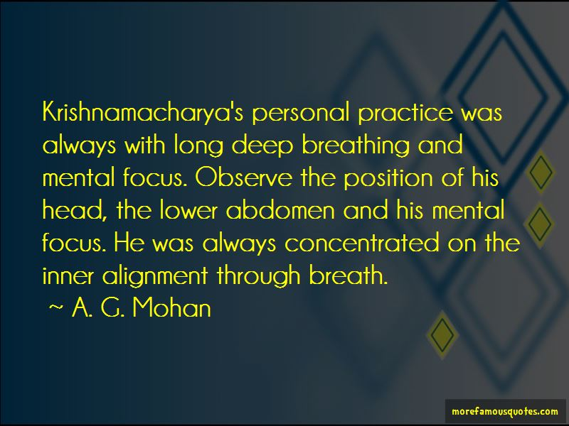 A. G. Mohan Quotes