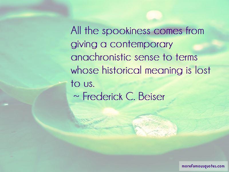 Frederick C. Beiser Quotes