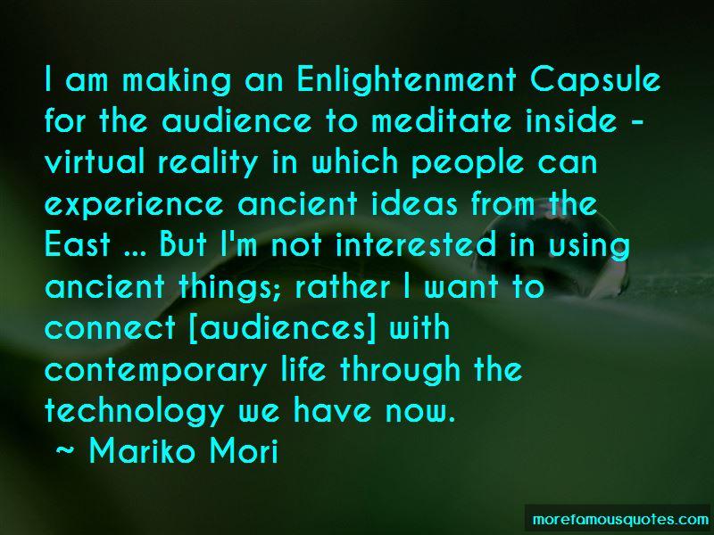 Mariko Mori Quotes Pictures 4