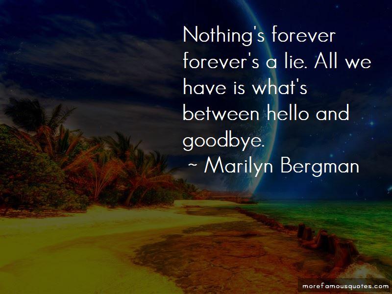 Marilyn Bergman Quotes
