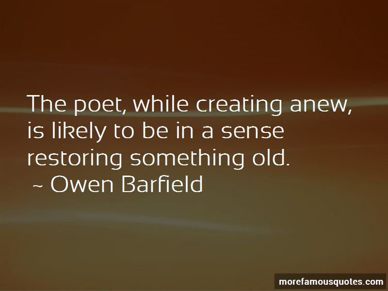 Owen Barfield Quotes