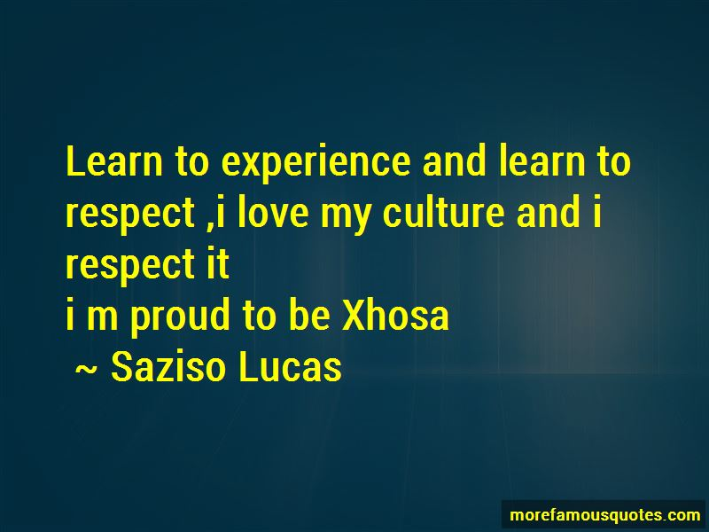 Saziso Lucas Quotes