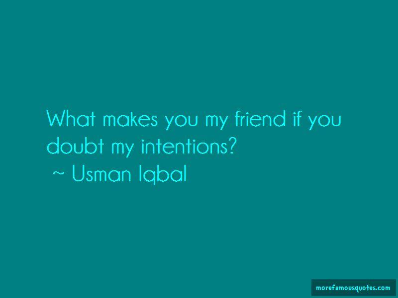 Usman Iqbal Quotes
