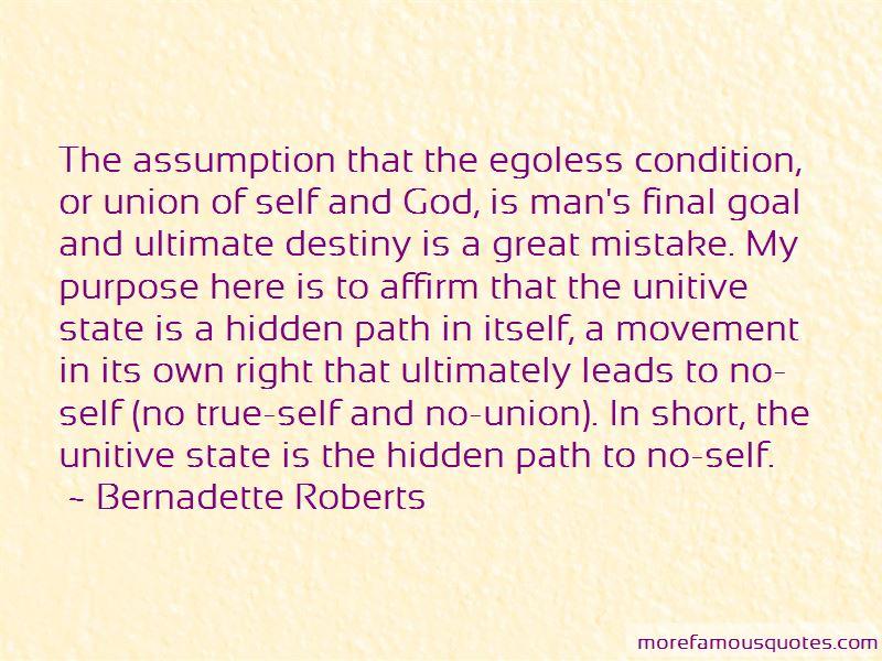 Bernadette Roberts Quotes