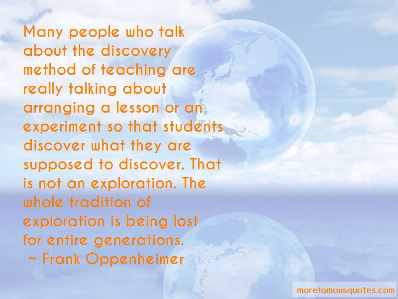 Frank Oppenheimer Quotes Pictures 3