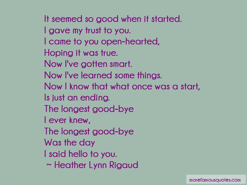 Heather Lynn Rigaud Quotes Pictures 2