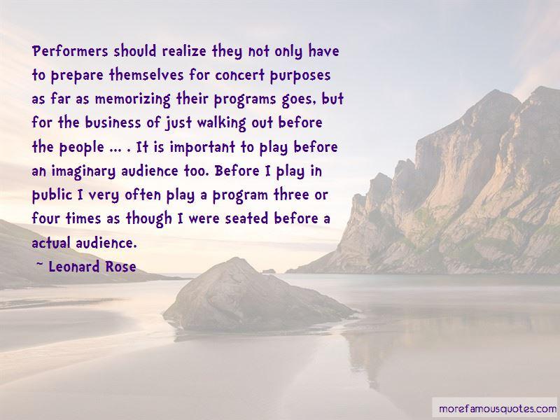 Leonard Rose Quotes