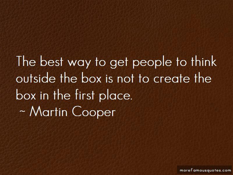 Martin Cooper Quotes