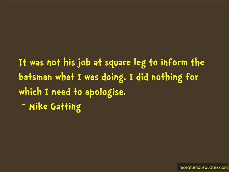 Mike Gatting Quotes