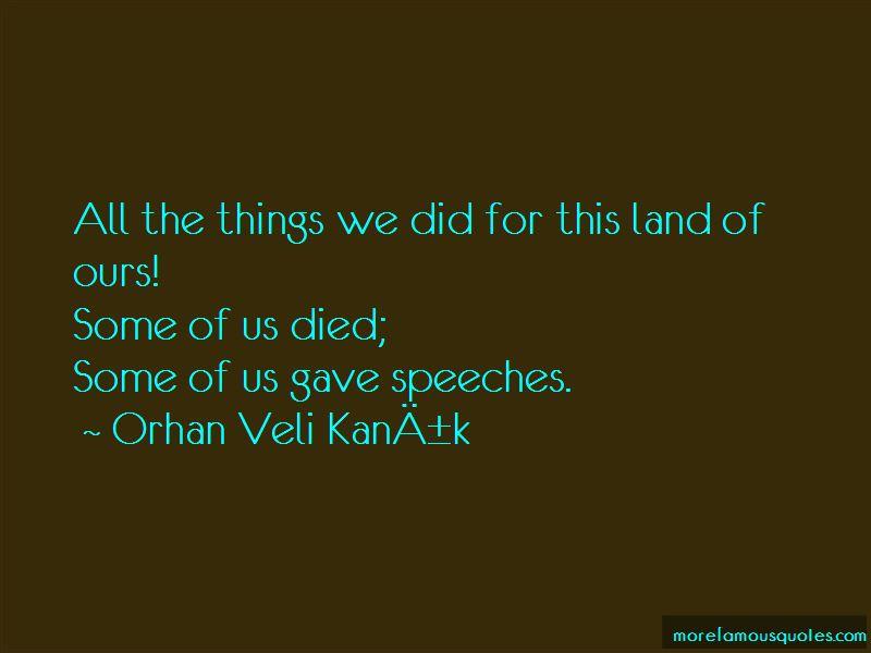 Orhan Veli Kanık Quotes