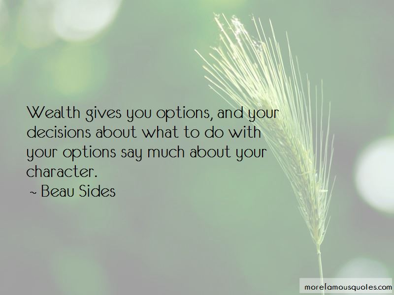 Beau Sides Quotes