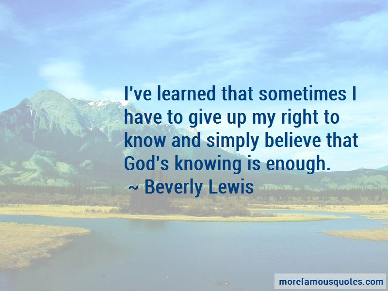Beverly Lewis Quotes Pictures 4