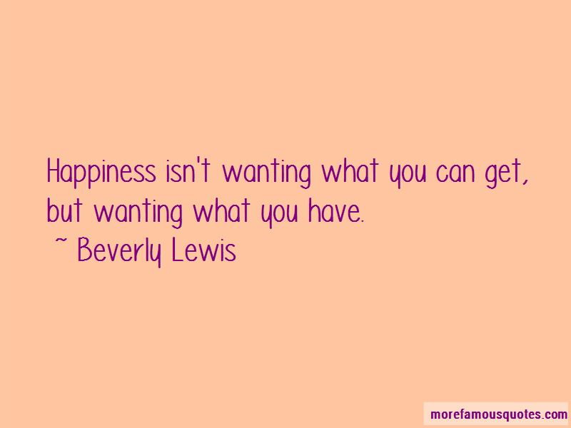 Beverly Lewis Quotes