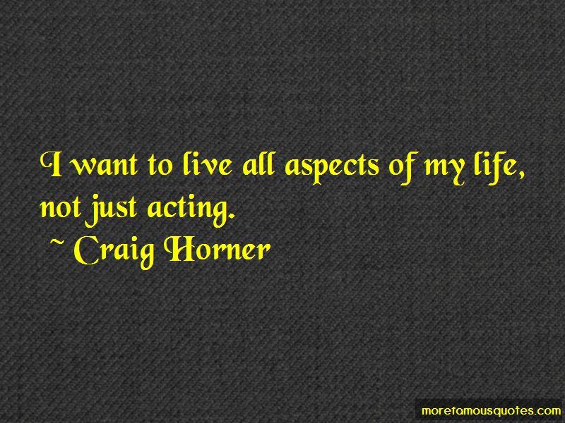 Craig Horner Quotes