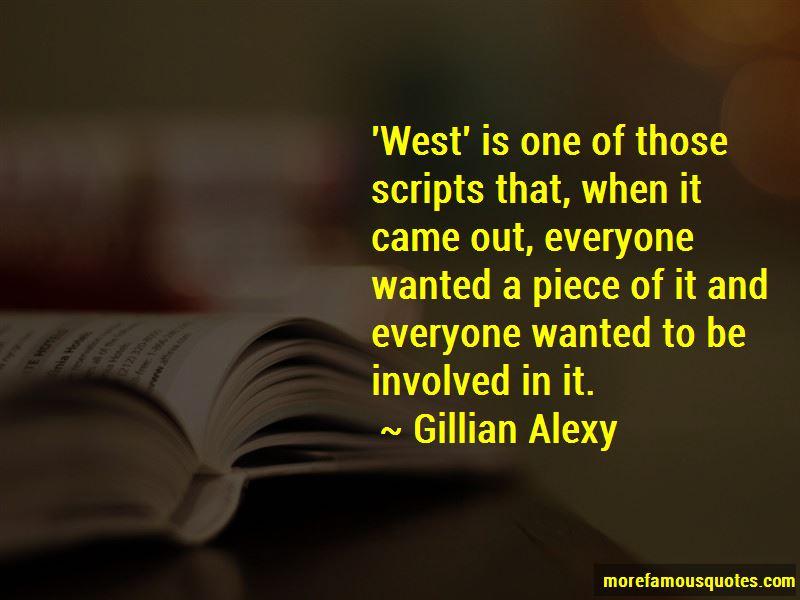 Gillian Alexy Quotes