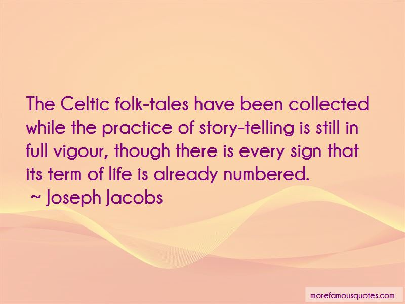 Joseph Jacobs Quotes