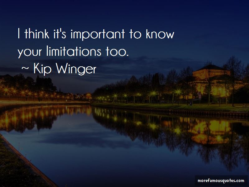 Kip Winger Quotes Pictures 2