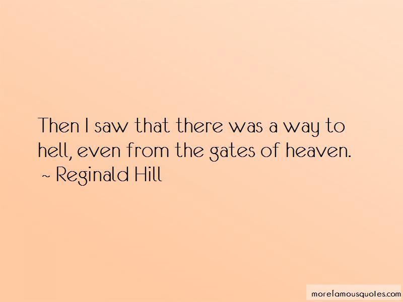 Reginald Hill Quotes Pictures 2