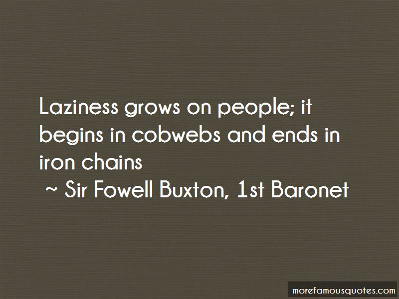 Sir Fowell Buxton, 1st Baronet Quotes
