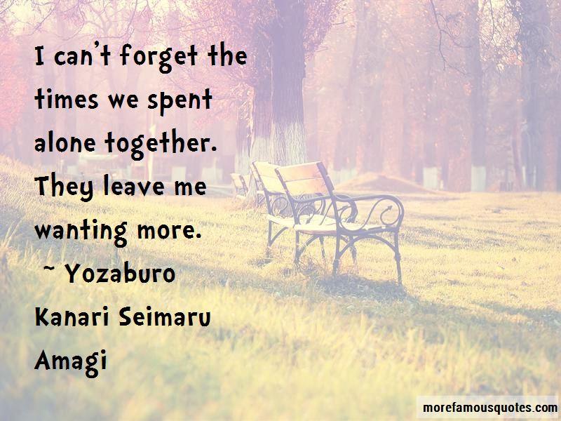 Yozaburo Kanari Seimaru Amagi Quotes