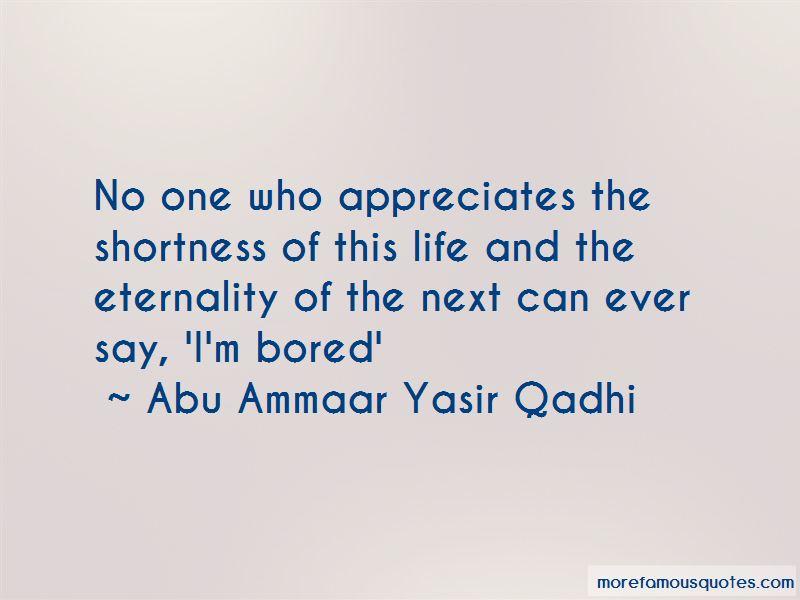 Abu Ammaar Yasir Qadhi Quotes