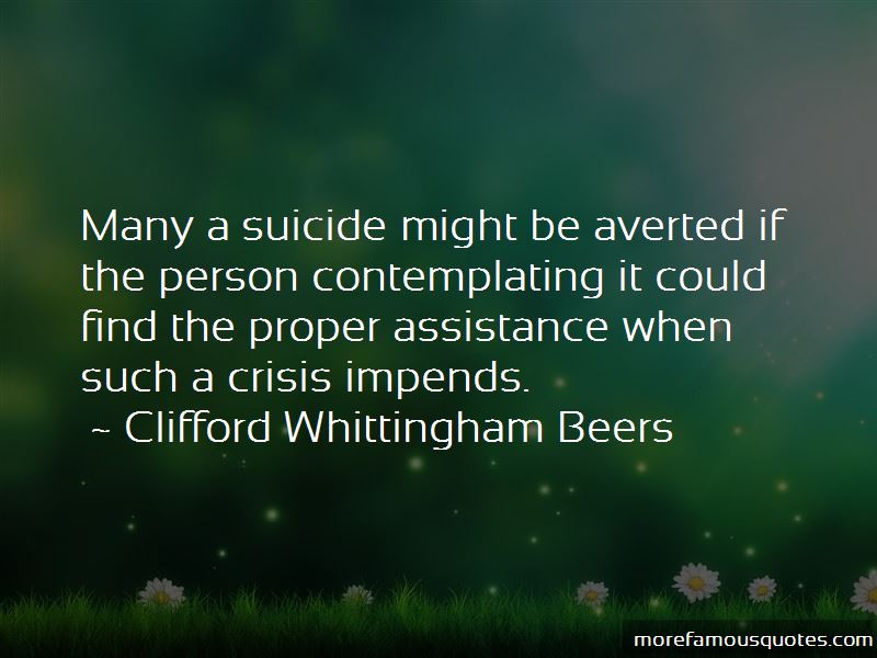 Clifford Whittingham Beers Quotes Pictures 4