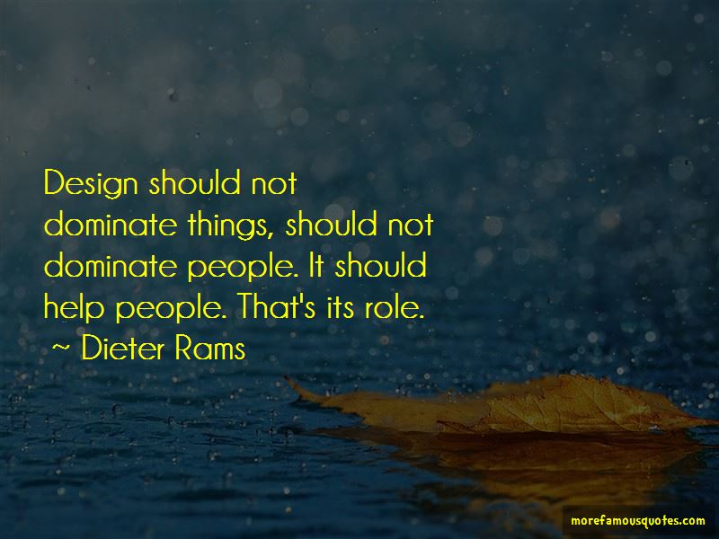 Dieter Rams Quotes