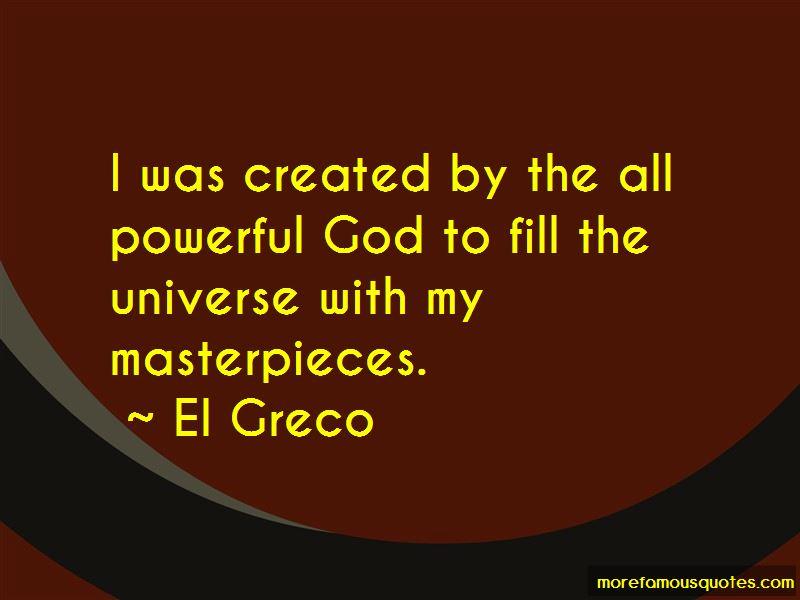 El Greco Quotes