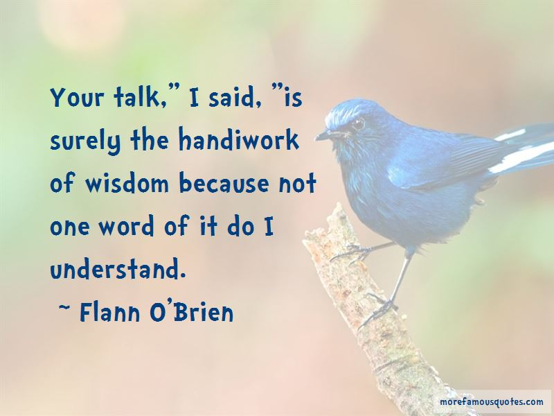 Flann O'Brien Quotes Pictures 3