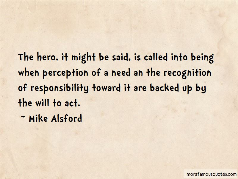 Mike Alsford Quotes