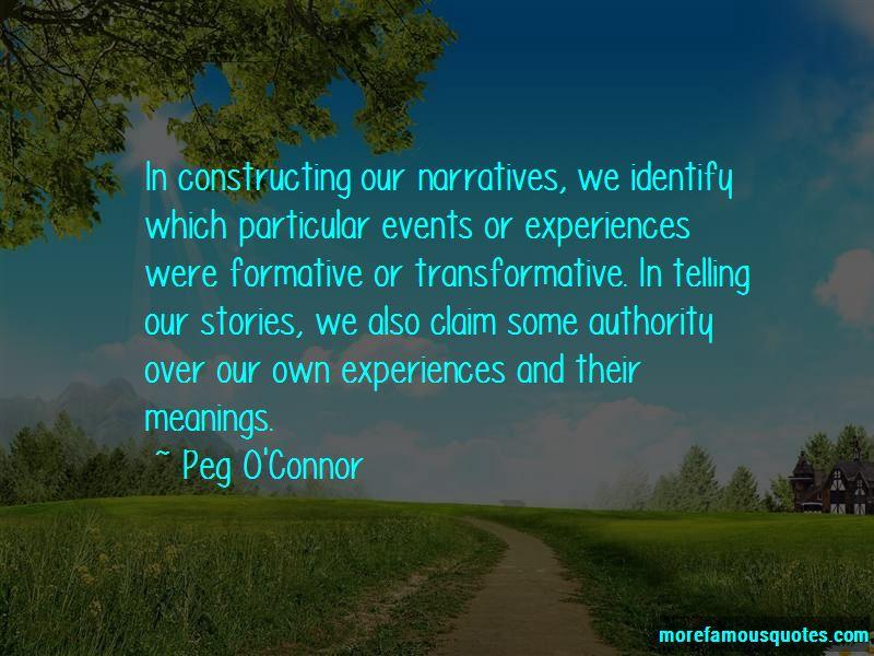 Peg O'Connor Quotes