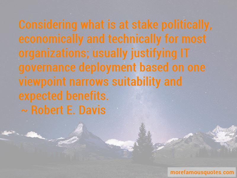 Robert E. Davis Quotes