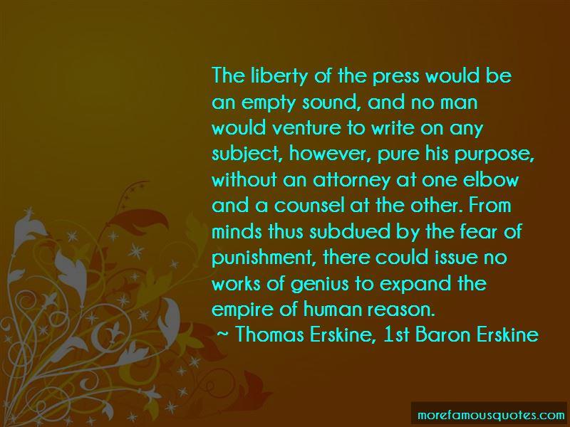 Thomas Erskine, 1st Baron Erskine Quotes