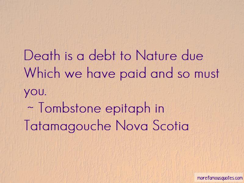 Tombstone Epitaph In Tatamagouche Nova Scotia Quotes
