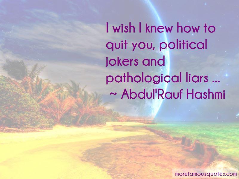 Abdul'Rauf Hashmi Quotes
