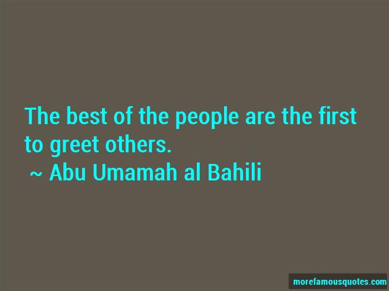 Abu Umamah Al Bahili Quotes Pictures 2