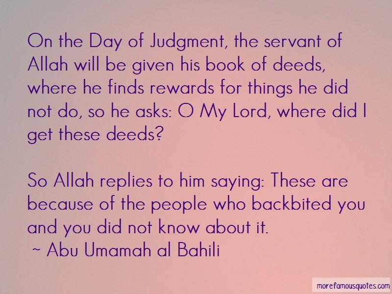 Abu Umamah Al Bahili Quotes